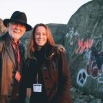 Nathalie Ducharme et Claude Steben au cap d'ours à rouyn- noranda pour le documentaire Toujours artiste