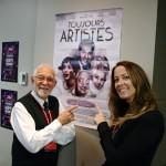 Toujours artiste de Nathalie Ducharme avec Claude Steben au festival du cinéma international en abitibi témiscamingue