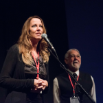 Nathalie Ducharme présente le documentaire TOUJOURS ARTISTE avec Claude Steben lors du 34e Festival du Cinéma International en Abitibi Témiscamingue au théâtre du cuivre à Rouyn-Noranda