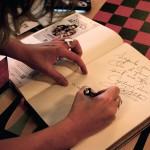 Nathalie Ducharme et claude steben – présentation de toujours artiste dans les résidences pour aînés de rouyn-noranda lors du festival du cinéma en abitibi témiscamingue, résidence bleu horizon