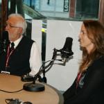 Nathalie Ducharme et Claude steben en entrevue avec le journaliste félix b desfossés de radio-canada première Abitibi POUR LE DOCUMENTAIRE toujours artiste de CANAL D