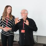 Nathalie Ducharme et Claude Steben présentent le documentaire TOUJOURS ARTISTE dans les résidences pour aînés de Rouyn-Noranda pour le festival du cinéma international en abitibi témiscamingue